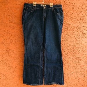 Levi Straus low-rise bootcut jeans